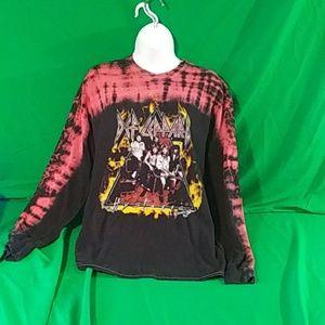 Def leopard hysteria vintage t shirt tie dye
